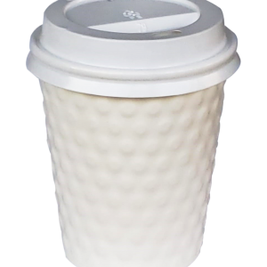 Vaso cafe doble pared diamond blanco 12 oz